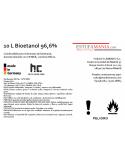 BIOETANOL 96.6 % Hofer Chemie. 12 LITROS
