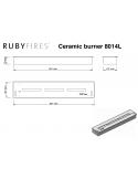 Dibujo Técnico Quemador Bioetanol Ruby Fires 8014 L