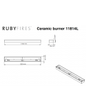QUEMADOR INOX XXL 11814 RUBY FIRES