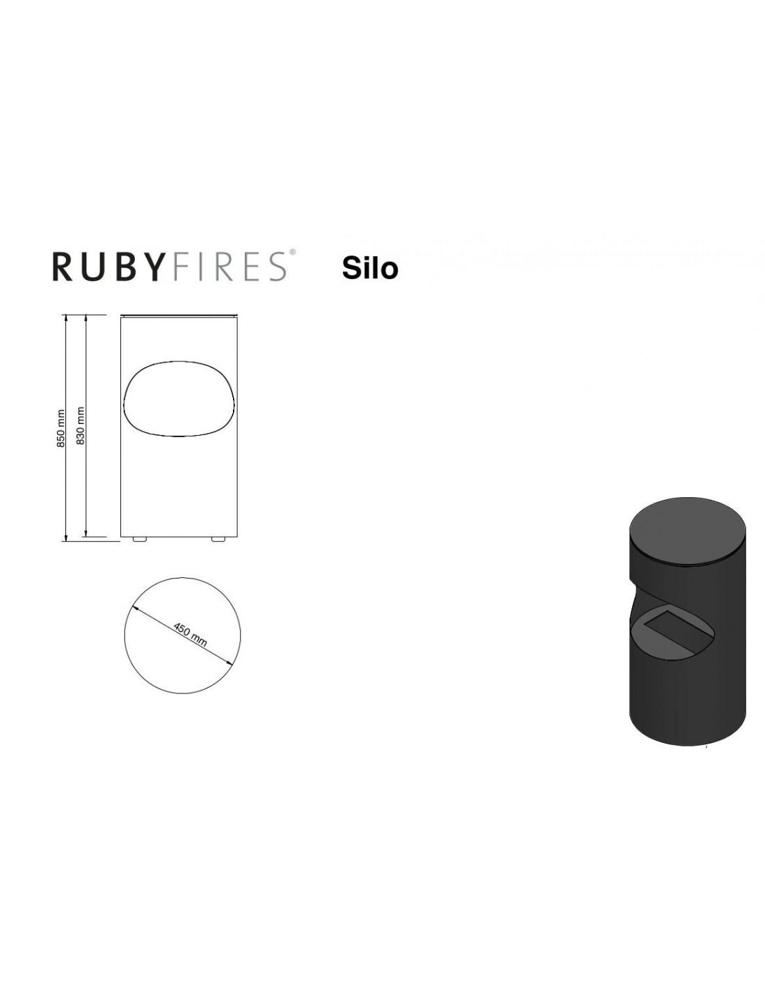 Estufa de bioetanol silo ruby fires estufamania - Estufas de bioetanol consumo ...