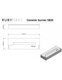 QUEMADOR INOX GRANDE 5820 RUBY FIRES
