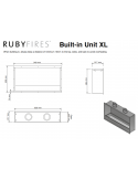 INSERTABLE XL RUBY FIRES