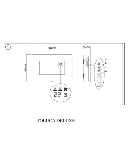 OPTIFLAME TOLUCA DIMPLEX